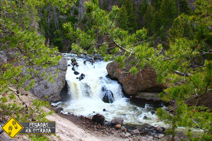 Firehole Canyon Drive, Yellowstone. Foto: CFR / Blog Pegadas na Estrada