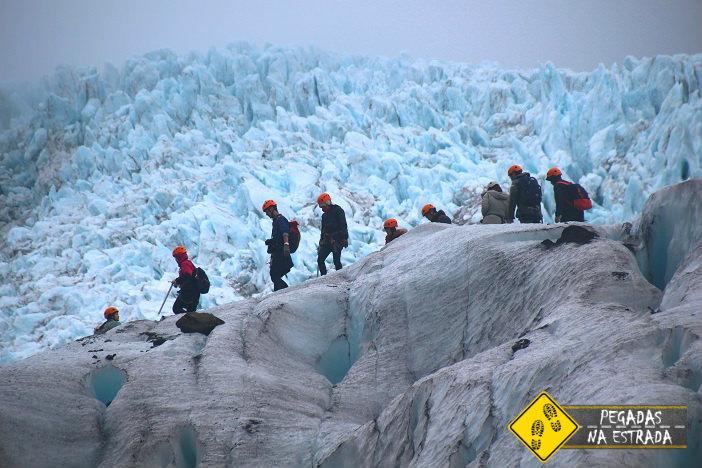 Ice Trekking no Parque Nacional Vatnajökull, Islândia. Foto: CFR / Blog Pegadas na Estrada