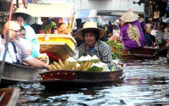 Bangkok mercado flutuante receitas tailandesas