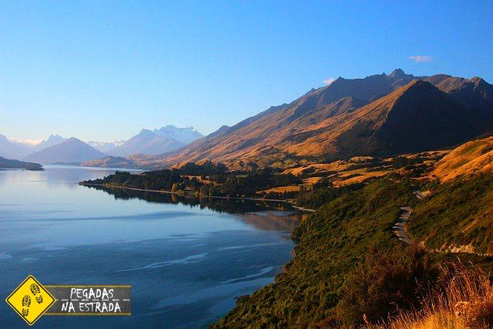 Estrada Queenstown Glenorchy Nova Zelândia