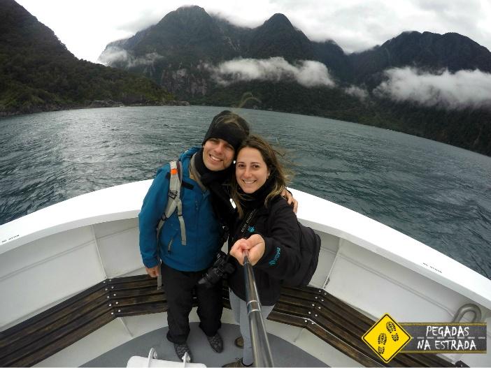 Passeio de barco pelo Milford Sound