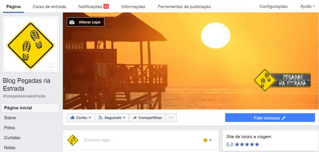 Facebook de viagem