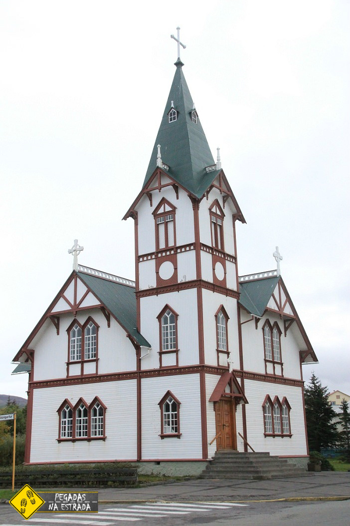 iceland church Husavik