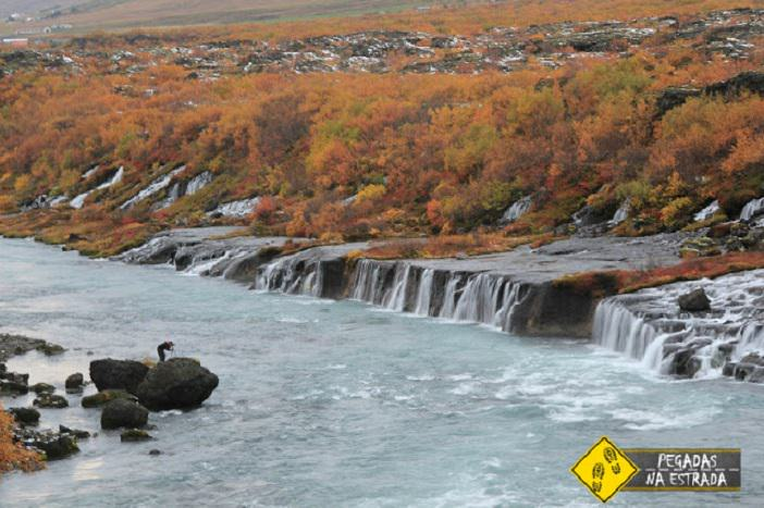 iceland west early october fall autumn outubro barnafoss hraunfossar