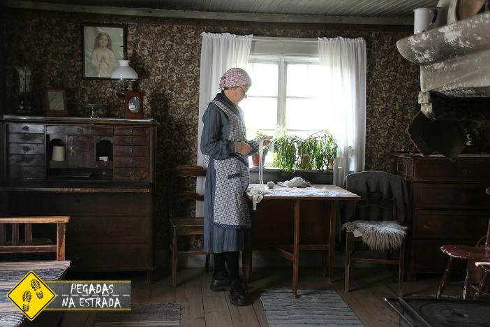 Simulação da vida na Suécia antiga. Foto: CFR / Blog Pegadas na Estrada