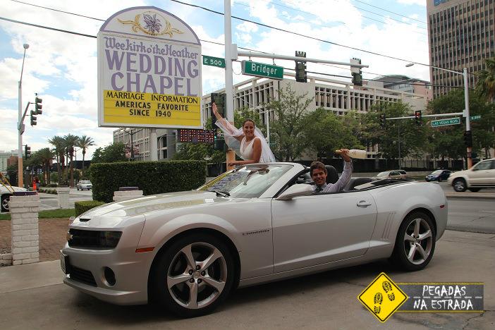 Nossa casamento na capela Wee Kirk o'the Heather Wedding em Las Vegas. Foto: CFR / Blog Pegadas na Estrada