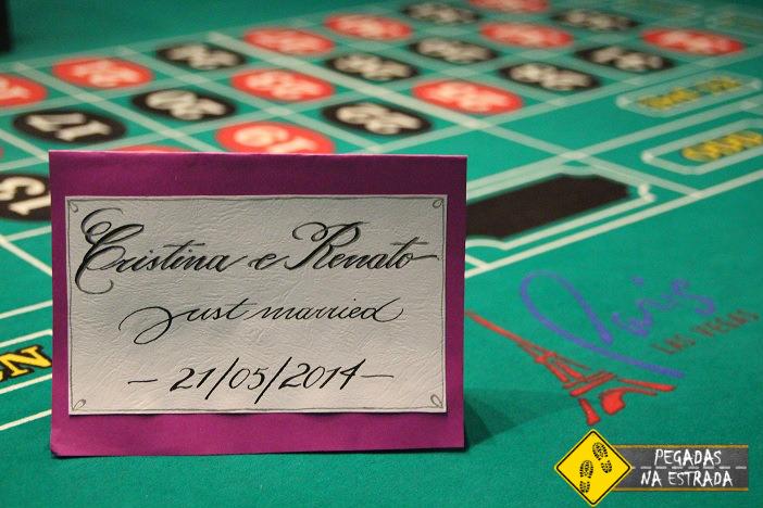 Comemoração no hotel Paris em Las Vegas. Foto: CFR / Pegadas na Estrada