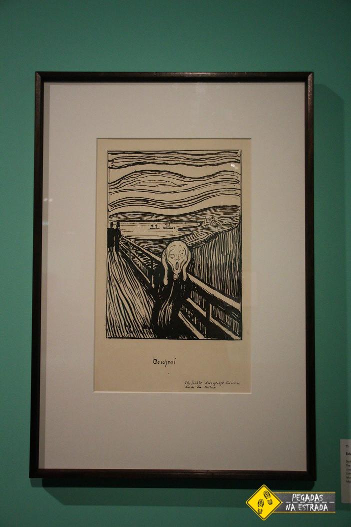 """""""O Grito"""" de Edvard Munch. Foto: CFR / Blog Pegadas na Estrada"""