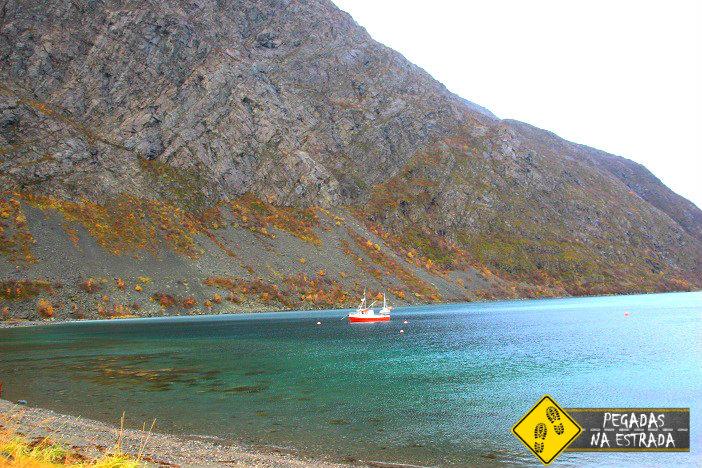 Tromso fiorde Noruega