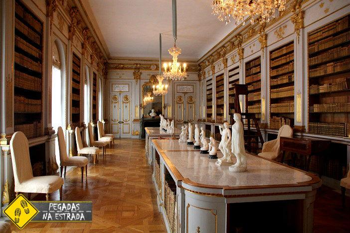 Interior do Palácio Drottningholm. Foto: CFR / Blog Pegadas na Estrada