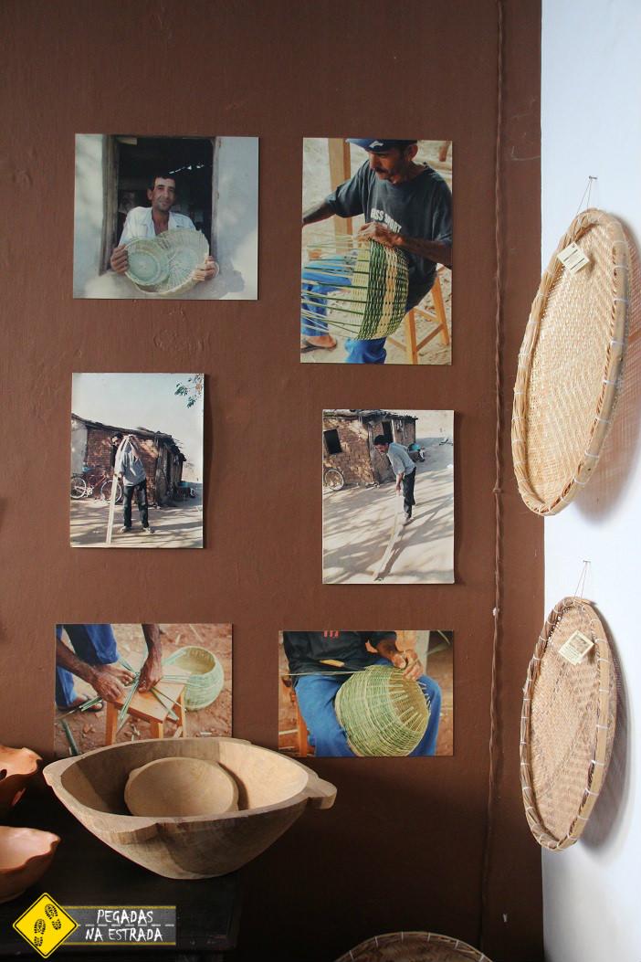 Artesanato de fibras vegetais. Foto: CFR / Blog Pegadas na Estrada