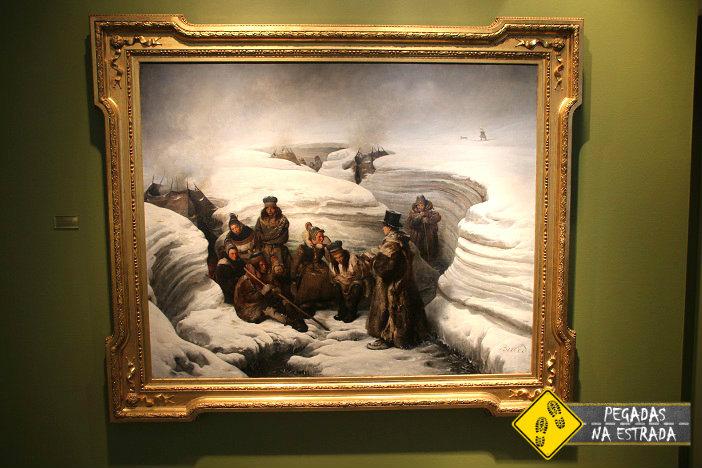Pintura sobre a cultura dos povos do Ártico no Northern Norway Art Museum. Foto: CFR / Blog Pegadas na Estrada
