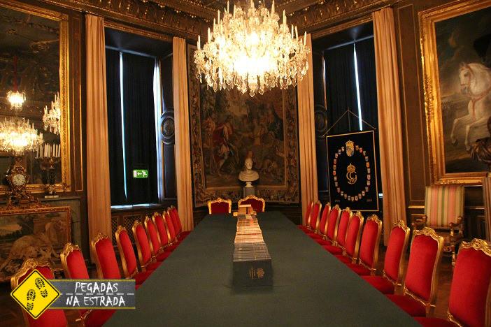 Interior do Palácio Real de Estocolmo. Foto: CFR / Blog Pegadas na Estrada