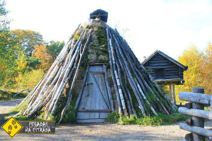 Casa Sami em Skansen. Foto: CFR / Blog Pegadas na Estrada