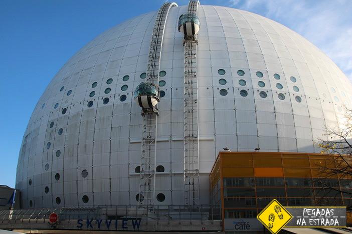 Ericsson Globe em Estocolmo. Foto: CFR / Blog Pegadas na Estrada