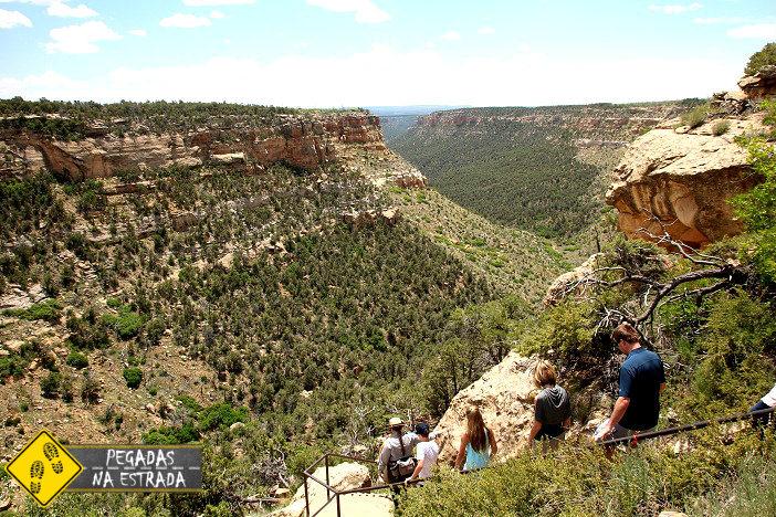 Trilha para o Long House, Mesa Verde National Park. Foto: CFR/ Blog Pegadas na Estrada