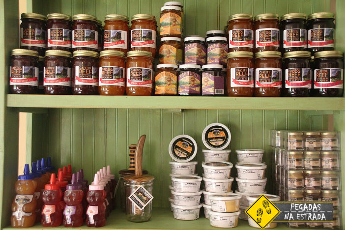 Produtos locais na Historic Gilford House, Fruita. Foto: CFR / Blog Pegadas na Estrada