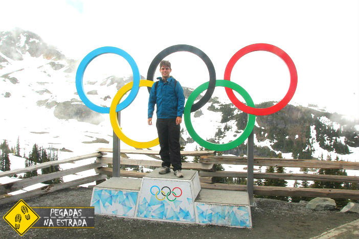 Arcos dos jogos olímpicos de inverno, Whistler. Foto: CFR / Blog Pegadas na Estrada