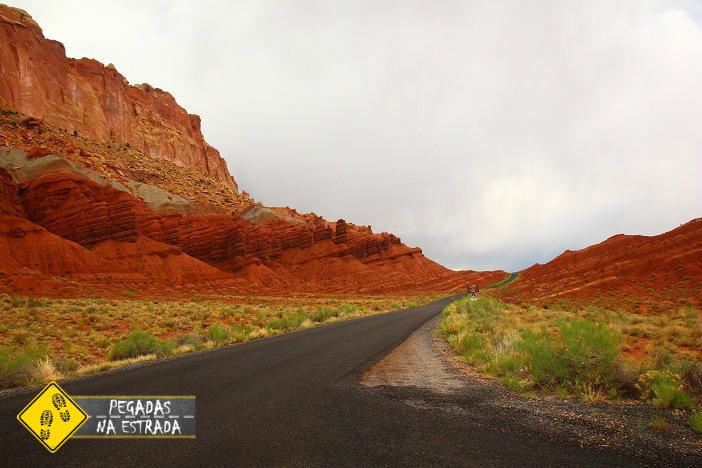 Scenic Drive, Capitol Reef National Park. Foto: CFR / Blog Pegadas na Estrada