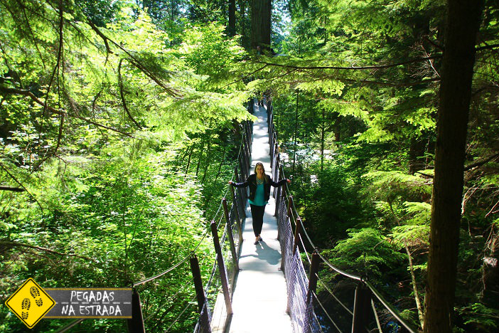 Arvorismo no Capilano Suspension Bridge Park Vancouver