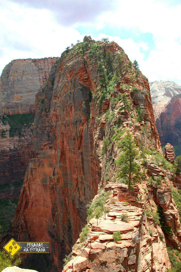 Angels landing hike Zion