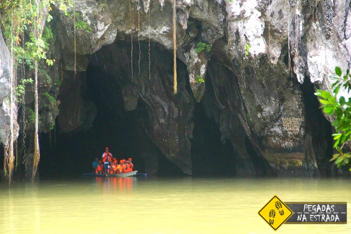 Rio subterrâneo Puerto Princesa Filipinas