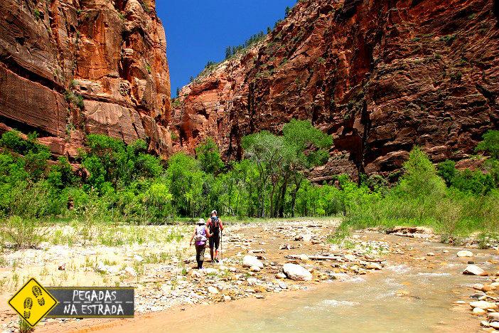 Trilha fácil no Zion National Park. Foto: CFR / Blog Pegadas na Estrada
