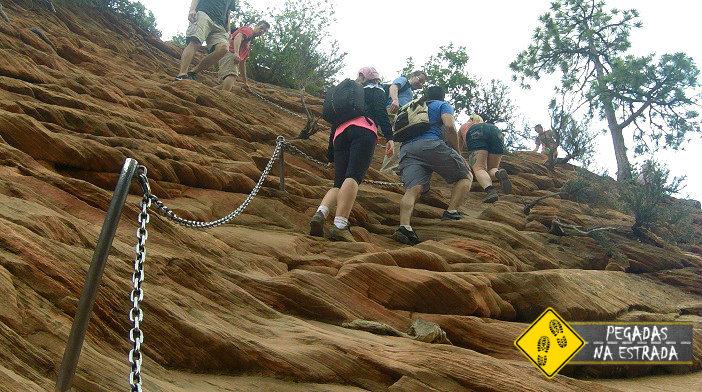 Trilha realmente difícil no Zion National Park. Foto: RMA / Blog Pegadas na Estrada