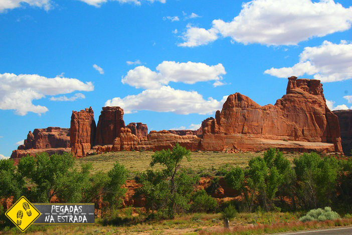 Courthouse Towers Viewpoint, Arches National Park. Foto: CFR / Blog Pegadas na Estrada