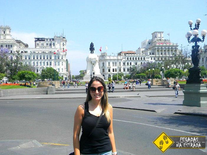 Plaza San Martin Lima viagem Peru
