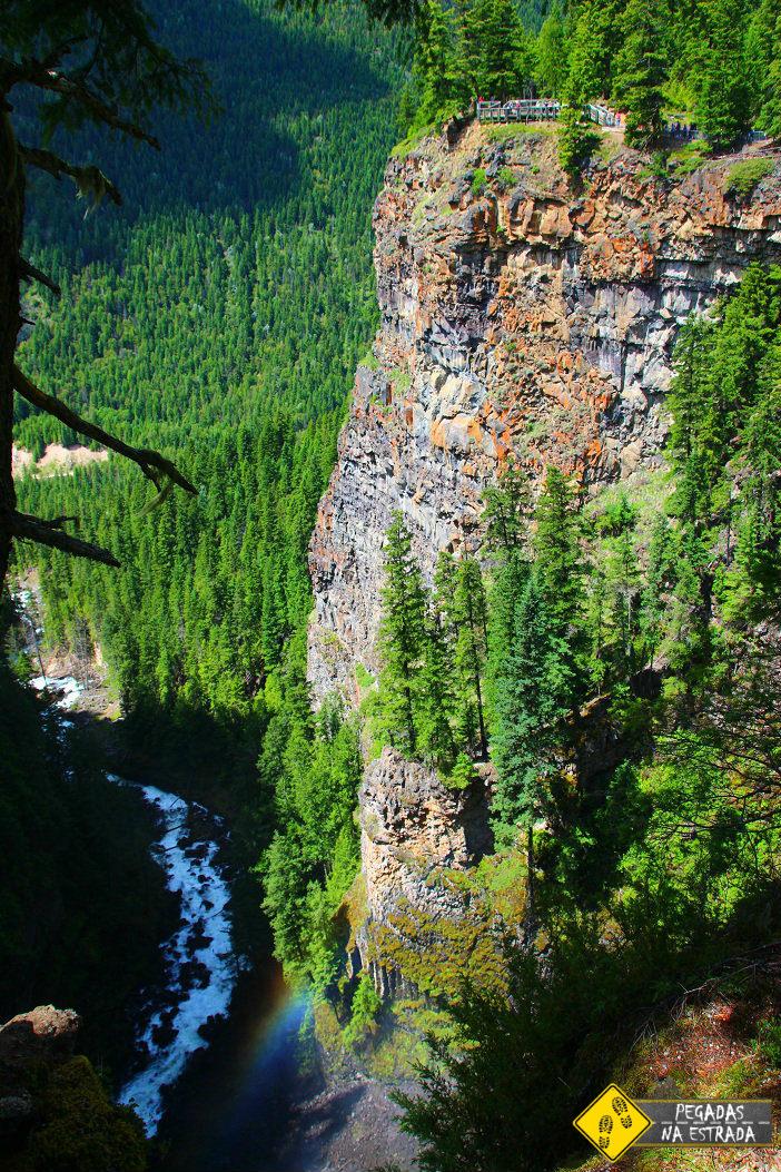 Mirante na Spahat Falls, Wells Gray Provincial Park
