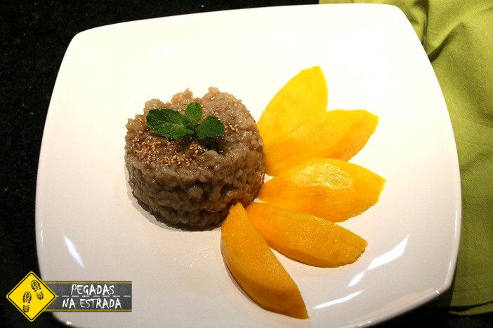 Doce de arroz com manga