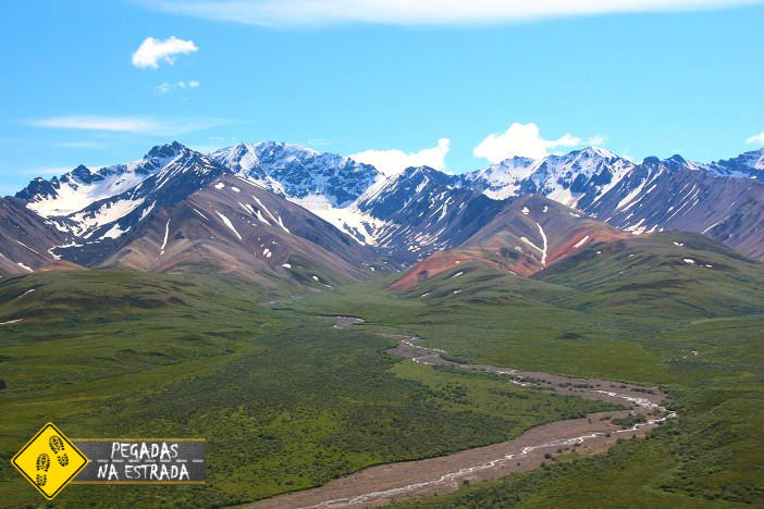 Na natureza selvagem Alasca