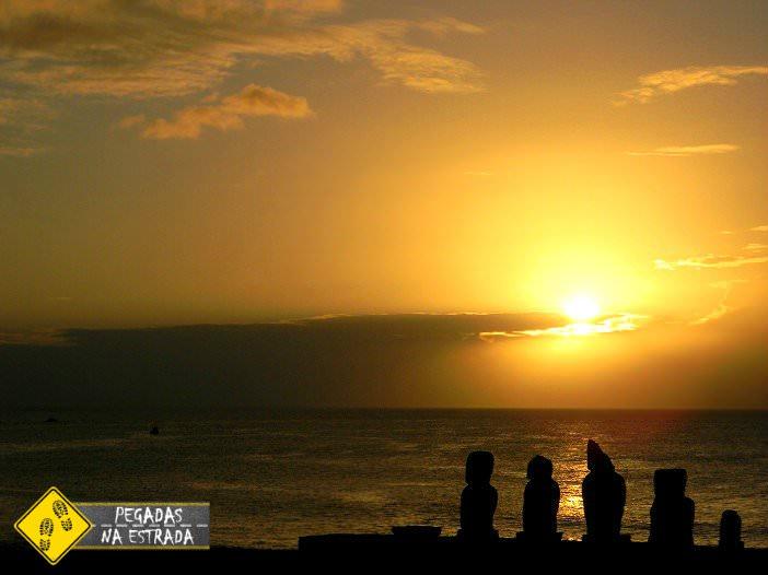 Pôr do sol Ilha de Páscoa