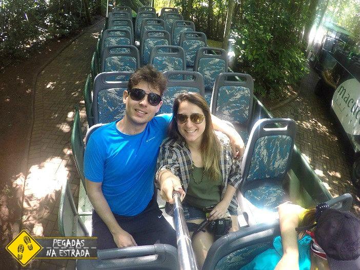 Carro elétrico no Macuco Safari. Foto: CFR / Blog Pegadas na Estrada