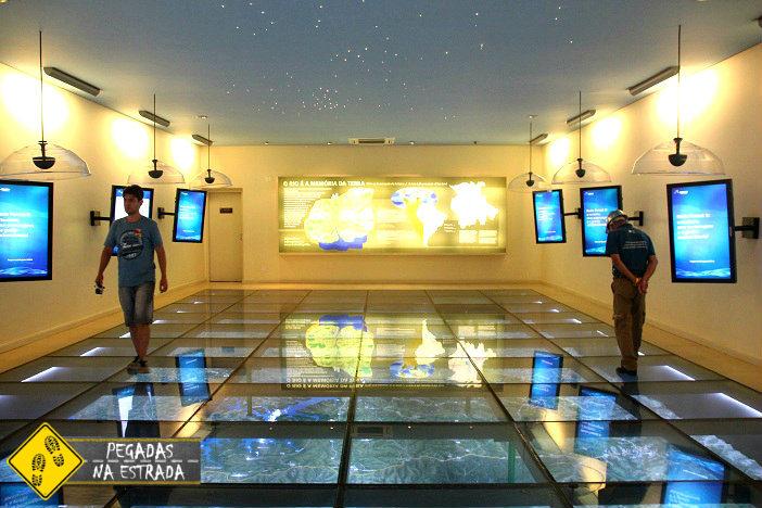 maquete de vidro Ecomuseu Itaipu