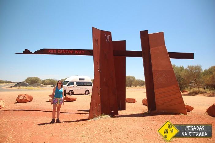 Dirigir outback australia deserto