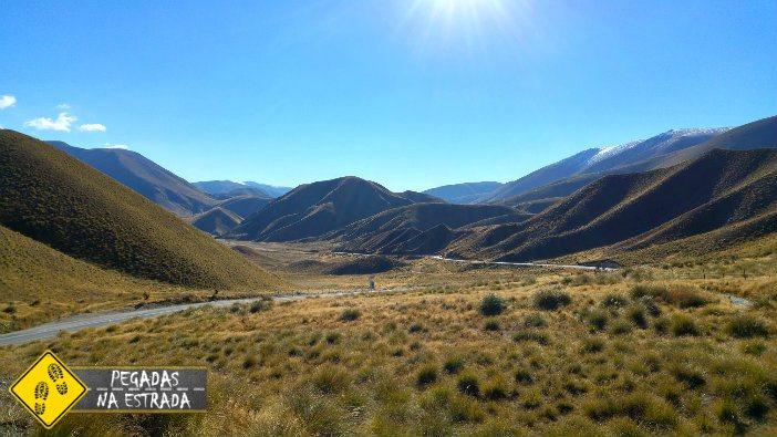 Lindis Pass Nova Zelândia estradas cênicas