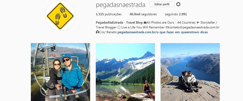 Instagram de viagem