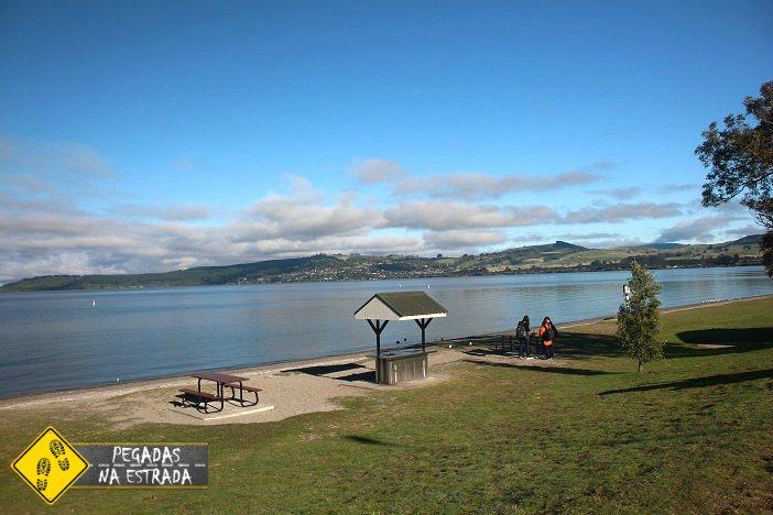Lago Taupo nova Zelândia