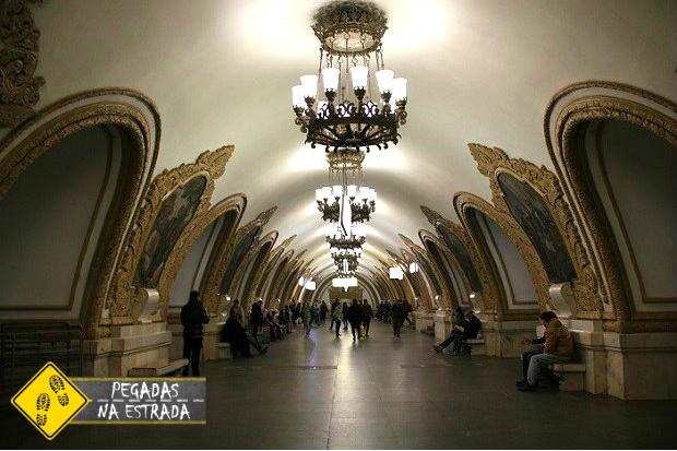 como usar o metrô de Moscou Rússia