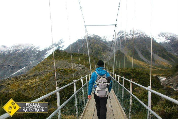 Trilha Mount Cook National Park Nova Zelândia