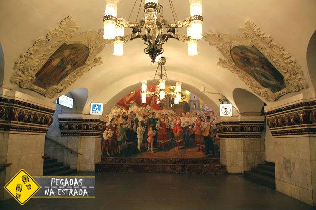 Guia roteiro metrô de Moscou