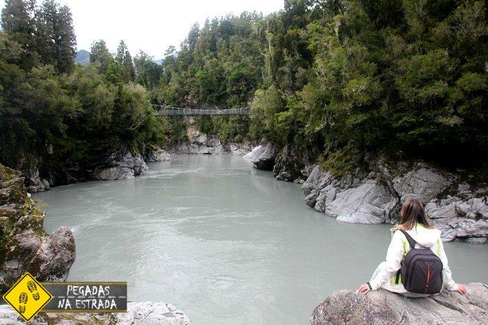 O que fazer na ilha sul da Nova Zelândia Hokitika Gorge