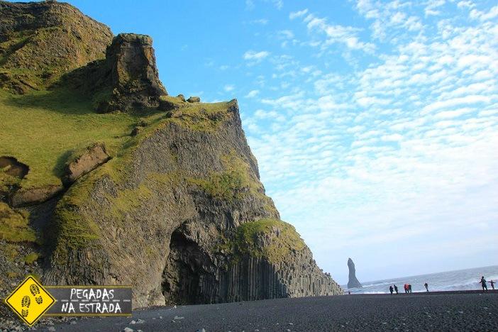 Praia areia preta Vik islândia