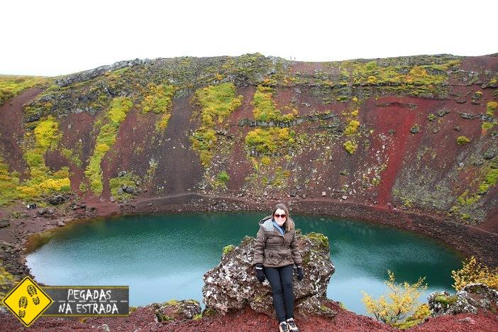 O que fazer na Islândia cratera vulcânica Kerið