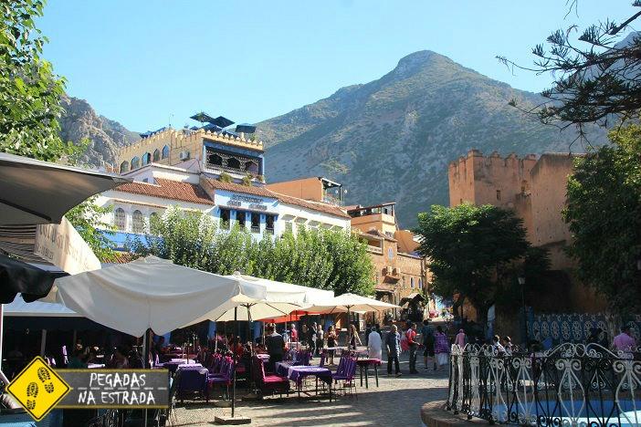 Praça Hamman Chefchaouen Marrocos