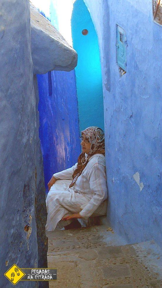 Medina azul de Chefchaouen Marrocos