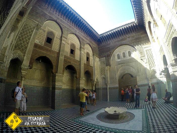 Madraça Attarine Fez Marrocos turismo