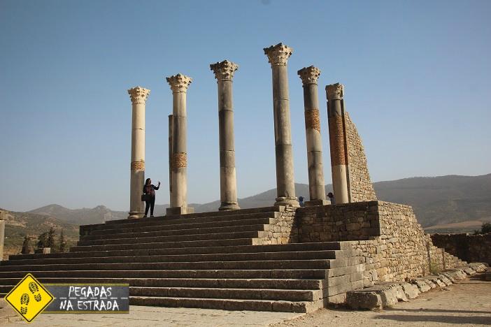 Templo Capitolino Volubilis Ruínas Romanas no Marrocos